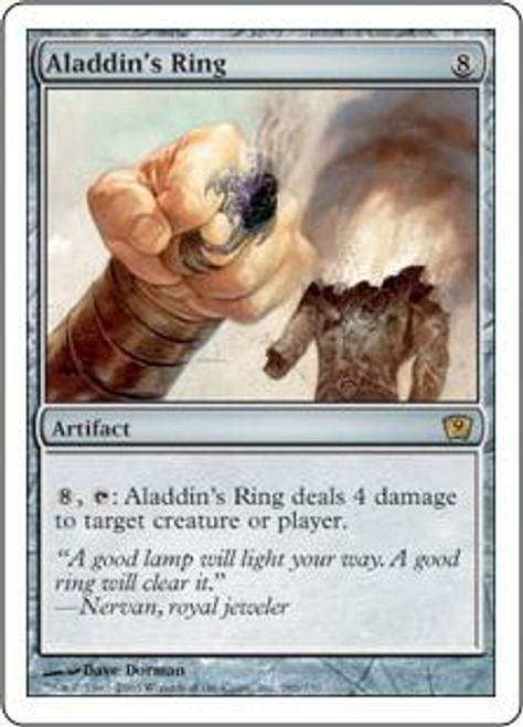 MtG 9th Edition Rare Aladdin's Ring #286