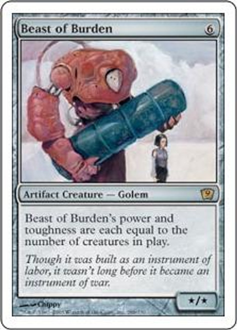 MtG 9th Edition Rare Beast of Burden #288