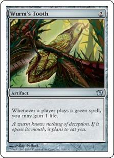 MtG 9th Edition Uncommon Wurm's Tooth #316