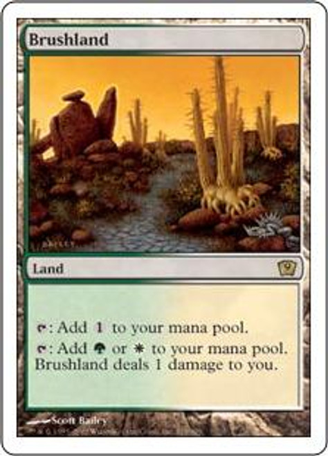 MtG 9th Edition Rare Brushland #319