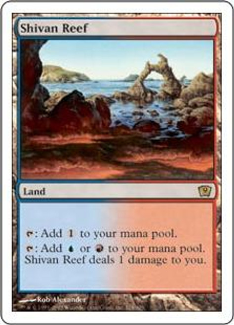 MtG 9th Edition Rare Shivan Reef #324