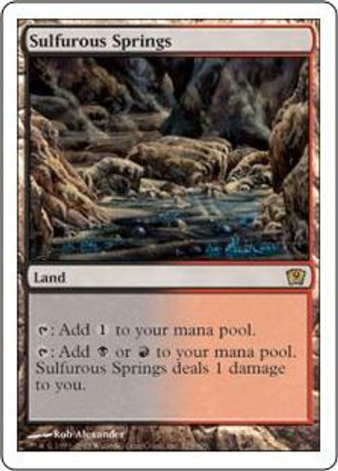 MtG 9th Edition Rare Sulfurous Springs #325