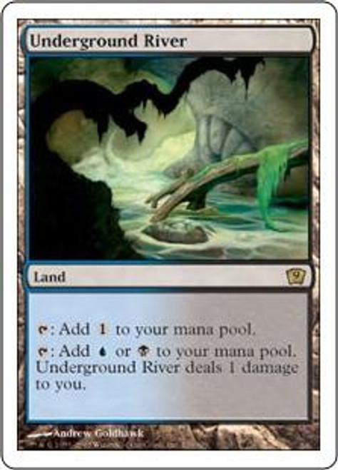 MtG 9th Edition Rare Underground River #326