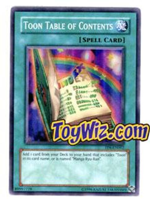 YuGiOh Tournament Pack 6 Super Rare Toon Table of Contents TP6-EN002