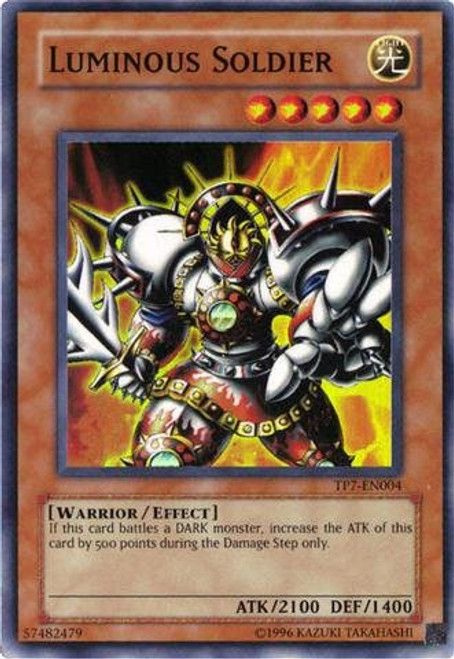 YuGiOh Tournament Pack 7 Super Rare Luminous Soldier TP7-EN004