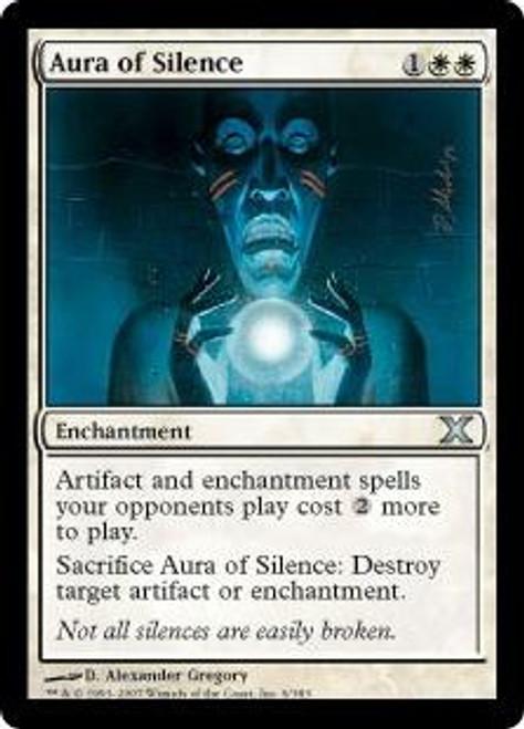 MtG 10th Edition Uncommon Aura of Silence #6