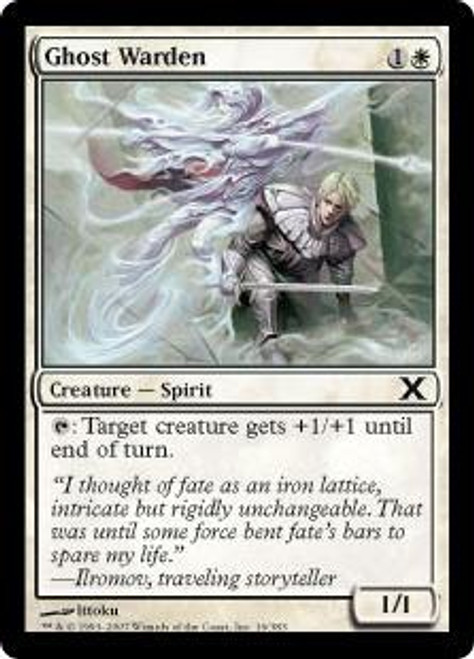 MtG 10th Edition Common Ghost Warden #16