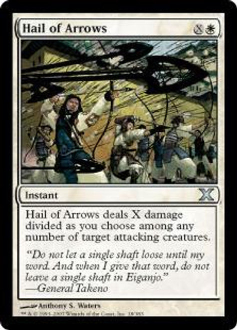 MtG 10th Edition Uncommon Hail of Arrows #18