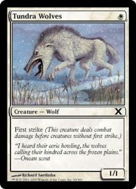 MtG 10th Edition Common Tundra Wolves #54