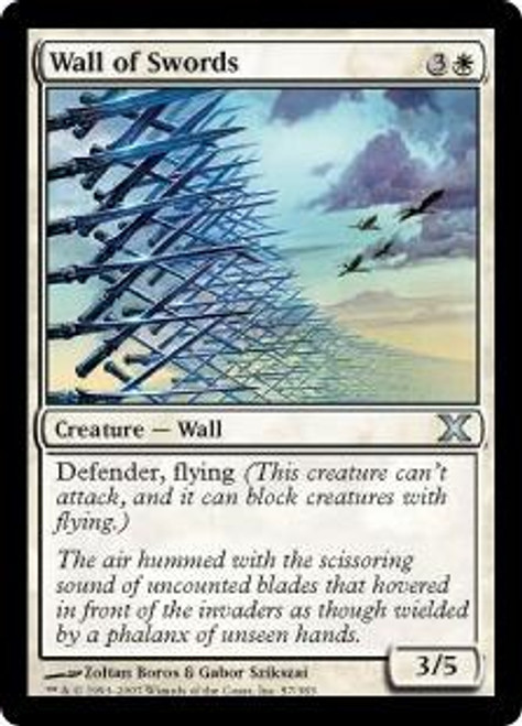 MtG 10th Edition Uncommon Wall of Swords #57