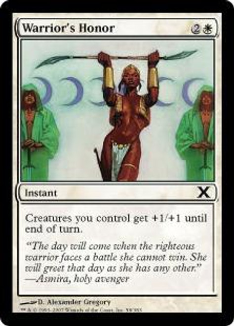 MtG 10th Edition Common Warrior's Honor #58