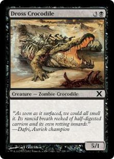 MtG 10th Edition Common Dross Crocodile #138