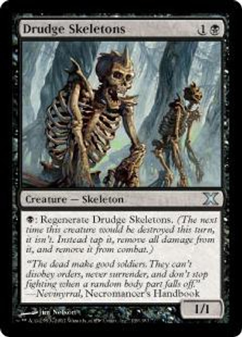 MtG 10th Edition Uncommon Drudge Skeletons #139