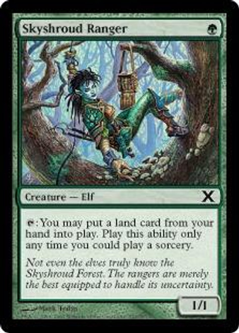 MtG 10th Edition Common Skyshroud Ranger #297