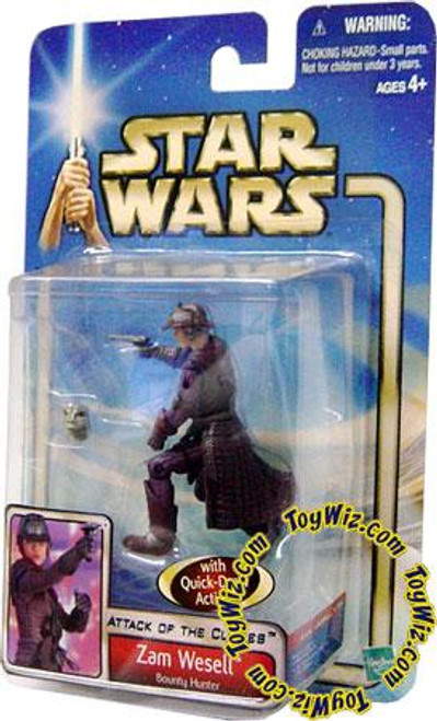Star Wars Attack of the Clones Saga 2002 Zam Wesell Action Figure [Bounty Hunter]