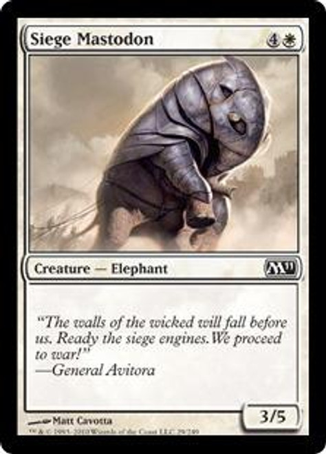MtG Magic 2011 Common Siege Mastodon #29