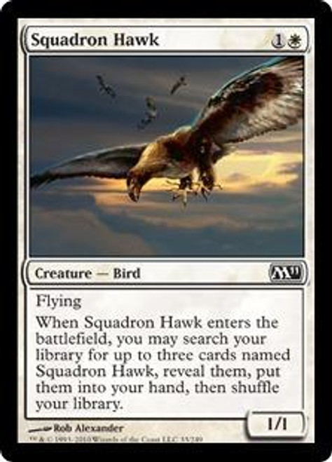 MtG Magic 2011 Common Squadron Hawk #33