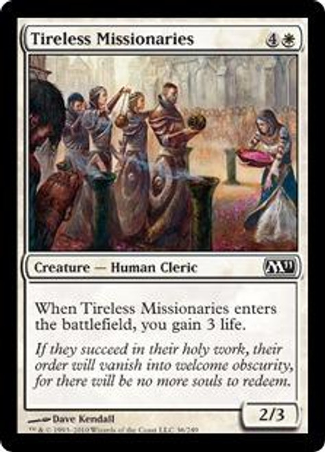 MtG Magic 2011 Common Tireless Missionaries #36