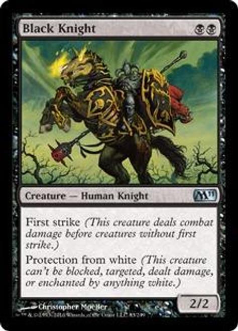 MtG Magic 2011 Uncommon Black Knight #83