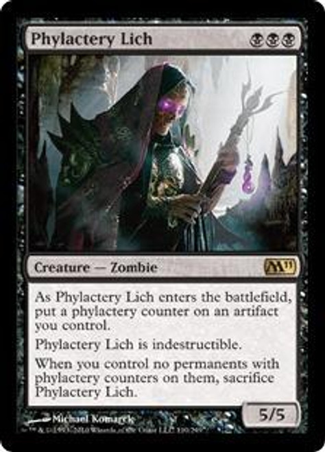 MtG Magic 2011 Rare Phylactery Lich #110