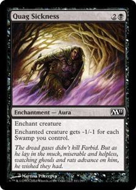 MtG Magic 2011 Common Quag Sickness #111