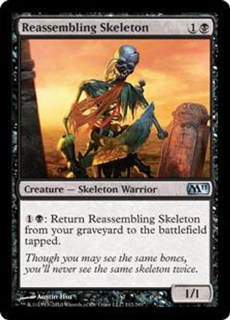 MtG Magic 2011 Uncommon Reassembling Skeleton #112