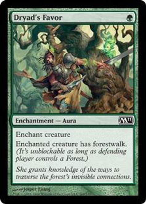 MtG Magic 2011 Common Dryad's Favor #169