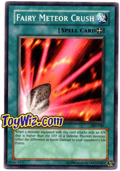 YuGiOh Kaiba Evolution Common Fairy Meteor Crush SKE-040