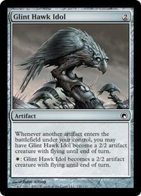 MtG Scars of Mirrodin Common Glint Hawk Idol #156