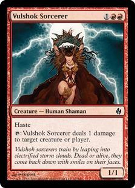 MtG Premium Deck Series: Fire and Lightning Common Vulshok Sorcerer #11