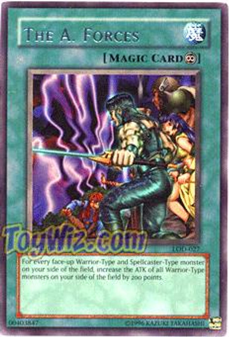 YuGiOh Legacy of Darkness Rare The A. Forces LOD-027
