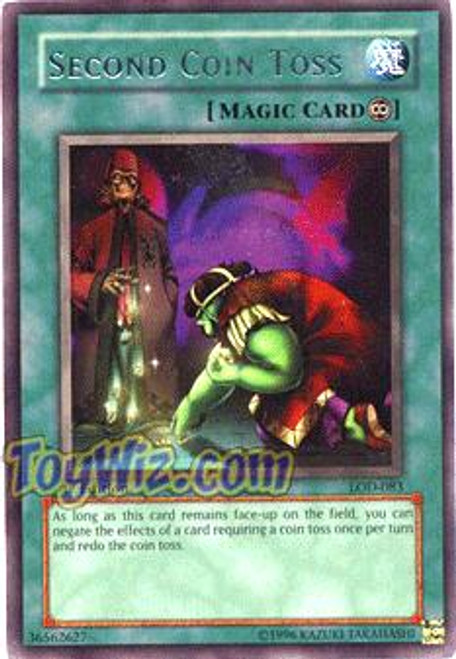 YuGiOh Legacy of Darkness Rare Second Coin Toss LOD-083