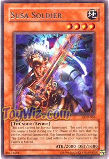 YuGiOh Legacy of Darkness Rare Susa Soldier LOD-066