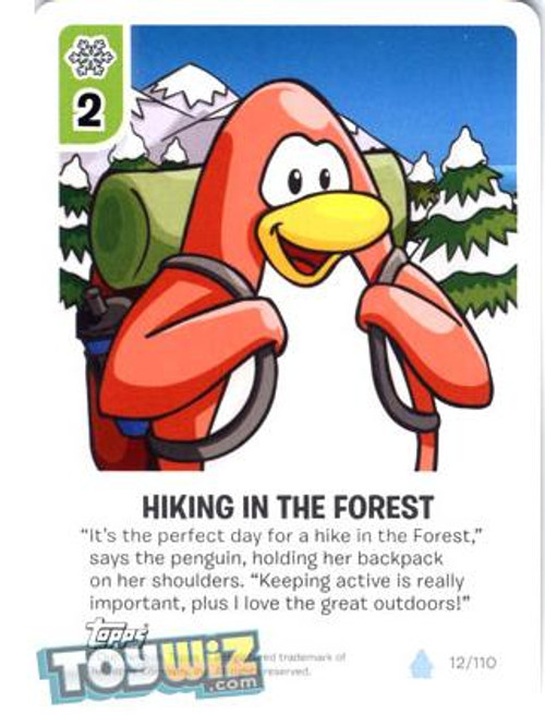 Club Penguin Card-Jitsu Basic Series 1 Common Hiking in the Forest #12