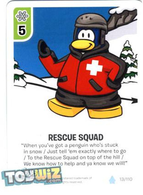 Club Penguin Card-Jitsu Basic Series 1 Common Rescue Squad #13