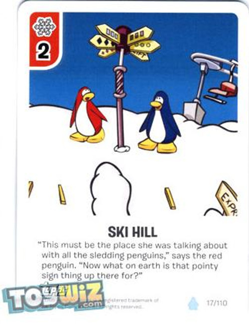 Club Penguin Card-Jitsu Basic Series 1 Common Ski Hill #17
