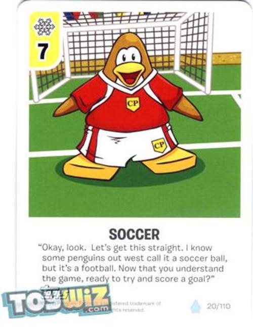 Club Penguin Card-Jitsu Basic Series 1 Common Soccer #20