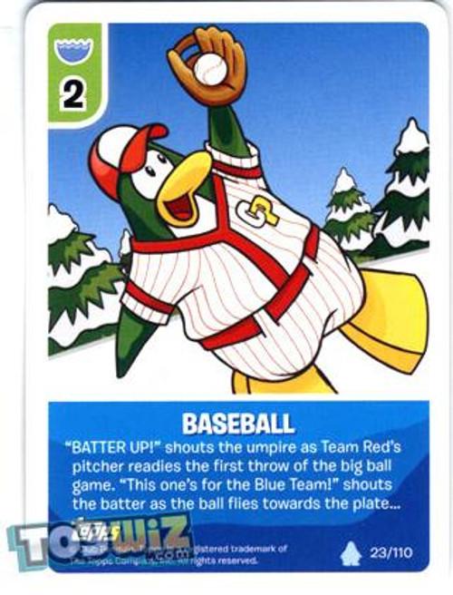 Club Penguin Card-Jitsu Basic Series 1 Common Baseball #23
