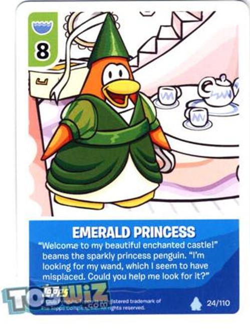 Club Penguin Card-Jitsu Basic Series 1 Common Emerald Princess #24