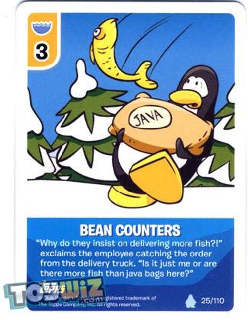 Club Penguin Card-Jitsu Basic Series 1 Common Bean Counters #25