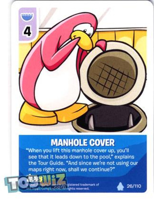 Club Penguin Card-Jitsu Basic Series 1 Common Manhole Cover #26