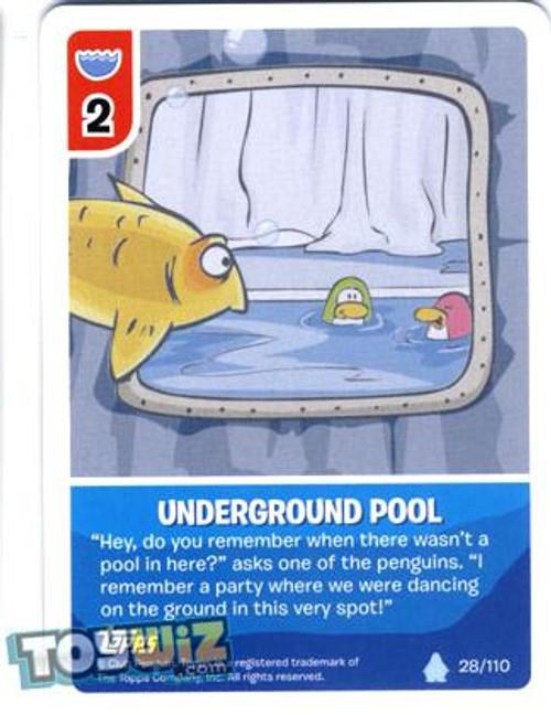 Club Penguin Card-Jitsu Basic Series 1 Common Underground Pool #28