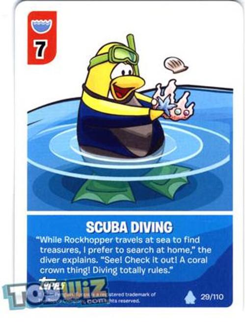 Club Penguin Card-Jitsu Basic Series 1 Common Scuba Diving #29
