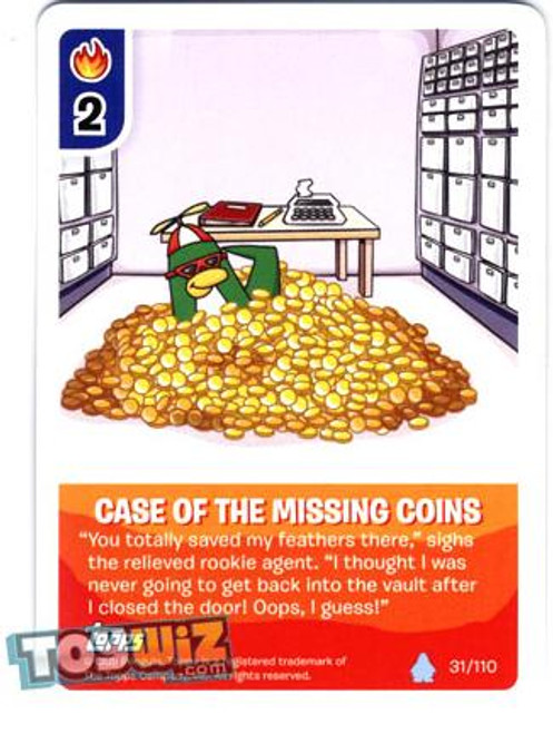 Club Penguin Card-Jitsu Basic Series 1 Common Case of the Missing Coins #31