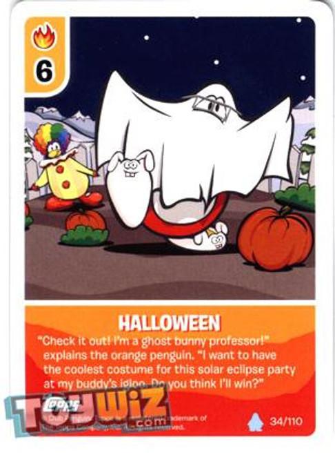 Club Penguin Card-Jitsu Basic Series 1 Common Halloween #34