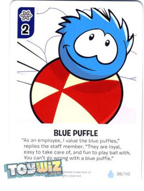 Club Penguin Card-Jitsu Basic Series 1 Common Blue Puffle #38