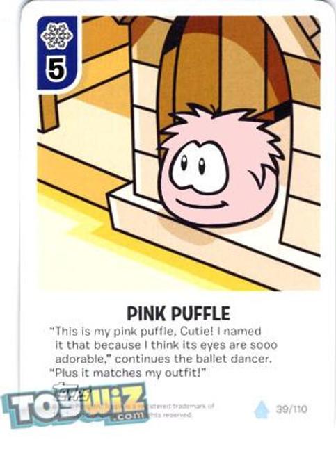 Club Penguin Card-Jitsu Basic Series 1 Common Pink Puffle #39