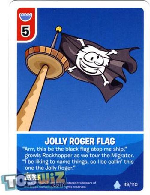 Club Penguin Card-Jitsu Basic Series 1 Common Jolly Roger Flag #49