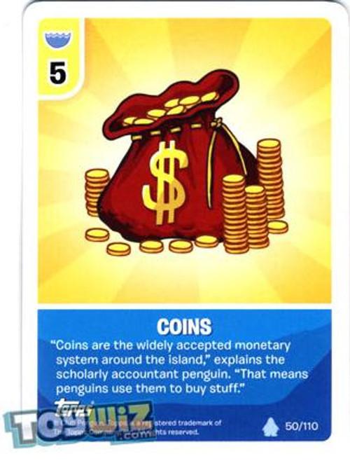 Club Penguin Card-Jitsu Basic Series 1 Common Coins #50