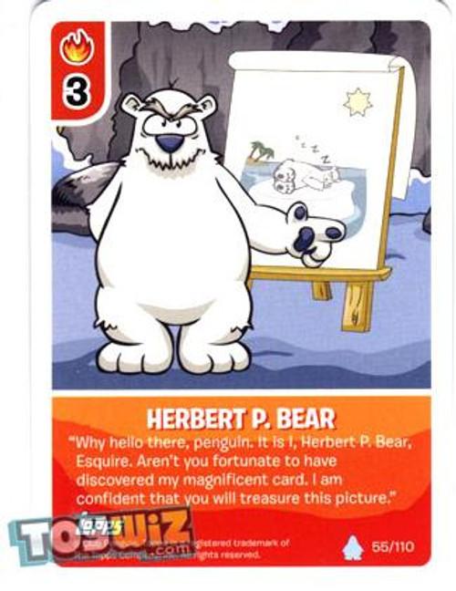 Club Penguin Card-Jitsu Basic Series 1 Common Herbert P. Bear #55
